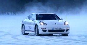 Porsche Panamera On Ice