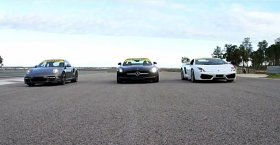 Porsche 911 Turbo S vs. Mercedes SLS AMG vs. Lamborghini Gallardo LP4-560 (Drag Race)