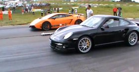 Porsche Turbo S PDK 2011 vs Lamborghini Superleggera