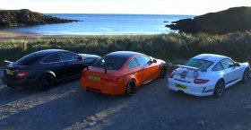 Porsche GT3 RS 4.0 v BMW M3 GTS v Mercedes C63 AMG Black Series