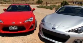 Porsche 911 Carrera S  vs Subaru BRZ 2013 (Mile High Mashup Review)