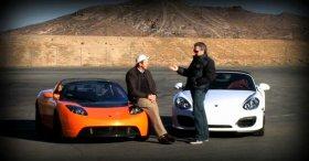 Porsche Boxster Spyder 2011 vs Tesla Roadster Sport 2010