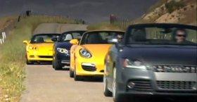 Porsche Boxster S 2009 vs BMW Z4 sDrive35i, Audi TTS, Chevy Corvette
